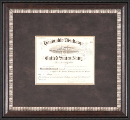 university diploma in brown frame