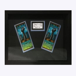 Framed Sporting Event Tickets
