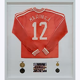 Framed Jersey and Sports Memorabilia